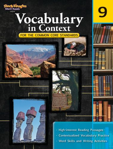 Vocabulary In Context For The Common Core Standards Grade 9