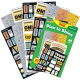 I ♥ Metal Plan to Shine superShapes Stickers – Large Variety Pack