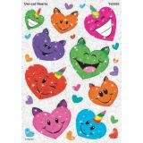 Uni-cat Hearts Sparkle Stickers®
