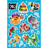 Fish Pirates & Crew Sparkle Stickers®
