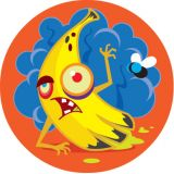 Stinky Stickers® Zombie Fruit (Dirt)