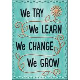 I ♥ Metal™ We TRY We LEARN We CHANGE… Argus® Poster