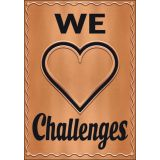 I ♥ Metal™ We ♥ Challenges Argus® Poster