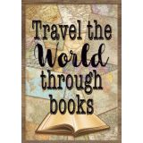 Travel the Map Travel the World Through Books Positive Poster