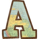 Travel the Map Bold Block 4 Letters Combo Pack