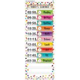 14-Pocket Daily Schedule Pocket Chart, Confetti