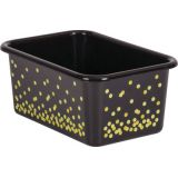 Black Confetti Small Plastic Storage Bin