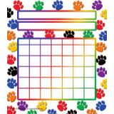 Colorful Paw Prints Incentive Charts