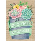Rustic Bloom Cultivate Kindness Positive Poster
