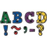 Plaid Magnetic Letters, Bold Block, 3