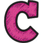 Clingy Thingies® Letters, Chalkboard Brights Bold Block