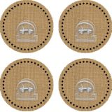 Clingy Thingies® Clips, Burlap