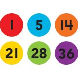Spot On® Numbers 1–36 Floor Markers, 4