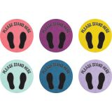 Spot On® Oh Happy Day Please Stand Here Floor Markers, 10-1/2