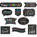 Clingy Thingies®: Chalkboard Brights Positive Sayings Accents