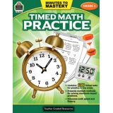 Minutes to Mastery: Timed Math Practice, Grade 3