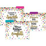 Confetti File Folders