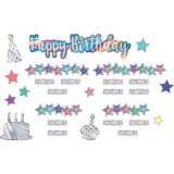 Iridescent Happy Birthday Mini Bulletin Board Set