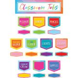 Colorful Vibes Classroom Jobs Mini Bulletin Board Set