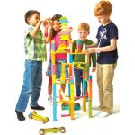 Tegu Blocks Classroom Kit in Tints, 130-piece Set