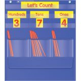 Counting Caddie and Place Value Pocket Chart - Blue