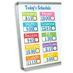 Magnetic Schedule Cards