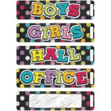 Neon Chalk Magnetic Hall Pass Set