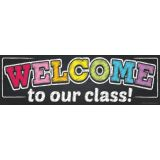 Neon Chalk Welcome Banner (Magnetic)