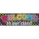 Neon Chalk Dots Welcome Banner (Magnetic)