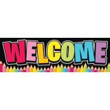 Neon Black Welcome Banner (Magnetic)