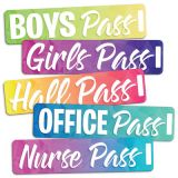 Geo Abstract Magnetic Hall Pass Set