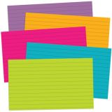 Border Index Cards, 3 x 5 Lined, Galactic Colors