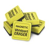 Magnetic Whiteboard Erasers, 2 x 2 Yellow, Set of 12