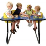 4-Seat Toddler Table, Royal Blue Table Top