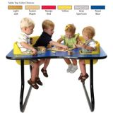 4-Seat Toddler Table, Light Oak Table Top