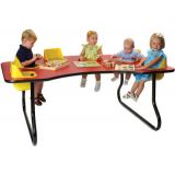 6-Seat Toddler Table, Navajo Red Table Top