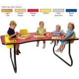 6-Seat Toddler Table, Gray Spectrum Table Top
