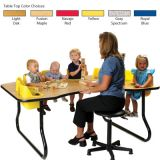 8-Seat Toddler Table, Yellow Table Top