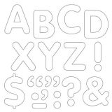 STICK-EZE® Stick-On Letters, 2 White