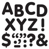 STICK-EZE® Stick-On Letters, 2 Black