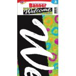 Color Harmony™ Welcome Swirl Dots Quotable Expressions® Banner