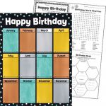 I ♥ Metal™ Birthday Learning Chart