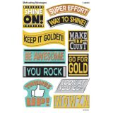 I ♥ Metal Motivating Messages superShapes Stickers, Large