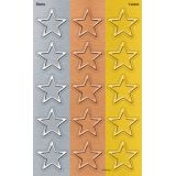 I ♥ Metal Stars superShapes Stickers, Large