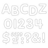 STICK-EZE® Stick-On Letters, 1 White
