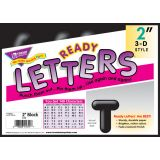 """2"""" Casual Ready Letters® 3-D Style"""