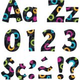 Color Harmony™ Swirl Dots on Black 4 Playful Ready Letters® Uppercase/Lowercase Combo Pack