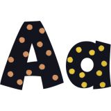 I ♥ Metal Dots 4 Playful Ready Letters® Uppercase/Lowercase Combo Pack