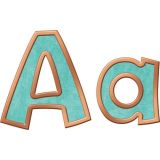 I ♥ Metal Copper & Patina 4 Playful Ready Letters® Uppercase/Lowercase Combo Pack