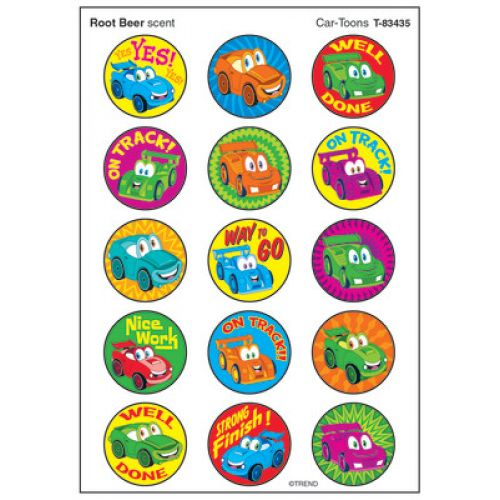 SuperShapes ideal for Teachers 144 Car-Toons Reward Stickers